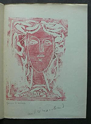 An Original Colour linocut/woodcut. Signed by Marchand. Circa 1946.