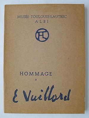 Hommage à E.Vuillard. Exposition Edouard Vuillard (1868-1940). Peintures, Aquarelles, Dessins. ...