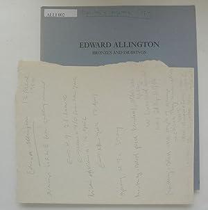 Edward Allington. Bronzes and Drawings. Lisson Gallery,: ALLINGTON, EDWARD.