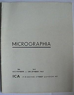 Micrographia. ICA, London 9th November-3rd December 1960.: PHOTOGRAPHY.