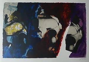 Eye & Camera. Red,Blue,Yellow. Original Screenprint printed: PIPER, JOHN.