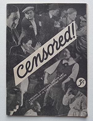 Censored ! The censors see red!. The Record of the Prsent Wave of Terrorism and Censorship in the...