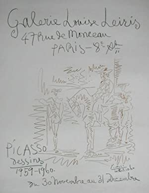 Dessins 1959-60.A poster (Czwiklitzer 40) for an: PICASSO, PABLO.
