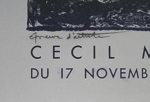 Cecil Michaelis. Oiginal lithographic poster. Galerie de Varenne, Paris 1960.: MICHAELIS, CECIL.
