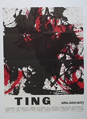 A poster for an exhibition titled �Ting�: WALASSE TING.