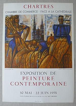 Original poster lithograph by Gromaire. Exposition de: GROMAIRE.