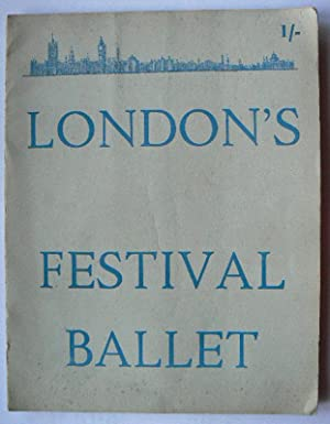 London's Festival Ballet. Programme for 1958. With Loosely Inserted, the Folding Sheet Programme ...