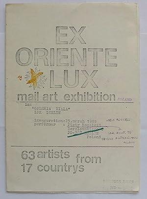 Ex Orient Lux. Mail Art exhibition Poland.: MAIL ART.