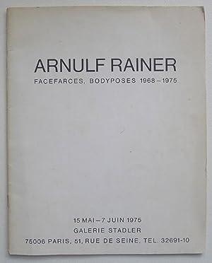 Arnulf Rainer Facefarces, Bodyposes 1968-1975. Galerie Stadler,: RAINER, ARNULF.