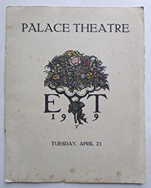 The Ellen Terry Memorial Fund Matinee Programme. The Palace Theatre, London Tuesday, April 23 1929.