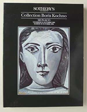 Collection Boris Kochno. Sotheby's, Monaco, 11 and 12 October 1991.