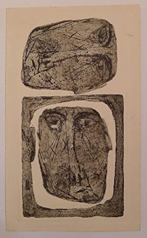 Two etchings on single sheet. Postwar. Un-identified.