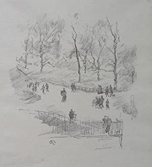 Kensington Gardens, 1896.(Chicago 140 I/I; Levy 158; Way 109). Transfer lithograph in black print...