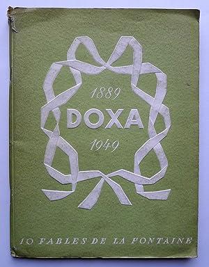 Dix fables de La Fontaine. Doxa 1889-1949.: LA FONTAINE.
