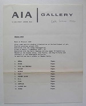 Graham Boyd. A I A Gallery, London: BOYD, GRAHAM.