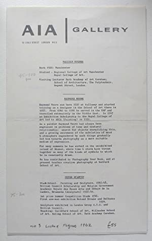 Malcolm Hughes, Raymond Moore, Peter Startup. A: ARTISTS INTERNATIONAL ASSOCIATION.