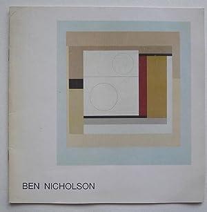 Ben Nicholson. OEuvres de 1932 a 1972.: NICHOLSON, BEN.