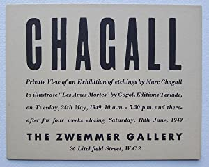 Chagall. Private View of an Exhibition of: CHAGALL, MARC.