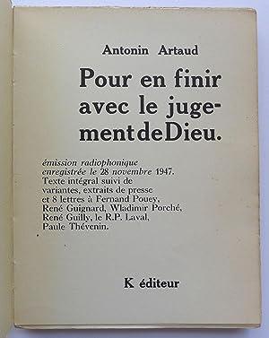 Pour en finir avec le jugement de: ARTAUD (Antonin)