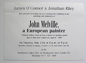 James O'Connor & Jonathan Riley have pleasure: MELVILLE, JOHN.