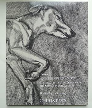 The Printer's Proof. Etchings by Lucian Freud: FREUD, LUCIAN.