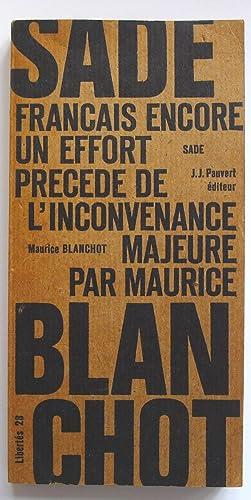Français, encore un effort - Extrait de: SADE. BLANCHOT Maurice.