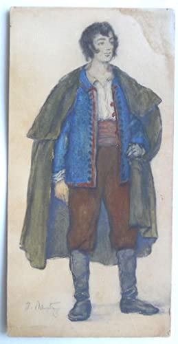 Original watercolour design. Possibly a male costume design for 'The Marriage of Figaro'.