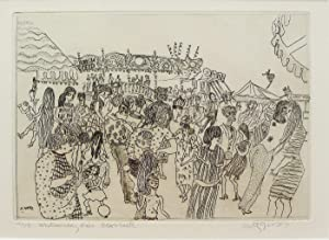 Whitmonday Fair, Blackheath. No.2  Etching by Anthony Gross