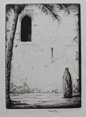 'The Open Window? etching by Charles Cain