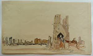 Ypres  watercolour by D.Y.Cameron