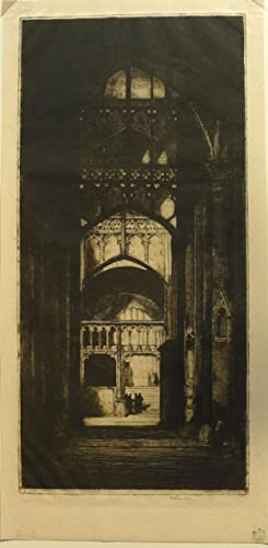 Gloucester Cathedral  Etching by D.Y.Cameron