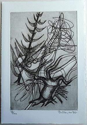 Blason des arbres Etching by Stanley William Hayter
