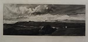 A Yorkshire Road, Wensleydale  Mezzotint by Frank Short