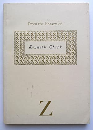 From the library of Kenneth Clark. A. Zwemmer KC89.