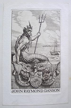 Bookplate for John Raymond Danson. Engraving,