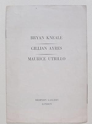 Bryan Kneale, Portraits. Gillian Ayres, New Paintings.: KNEALE, BRYAN. AYRES,