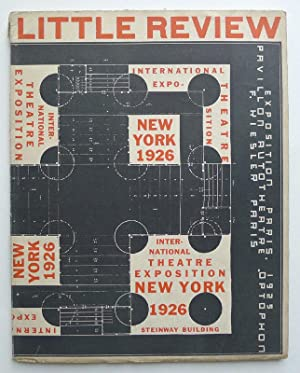 International Theatre Exposition New York 1926. Steinway Building 27. February - 15. March. The L...