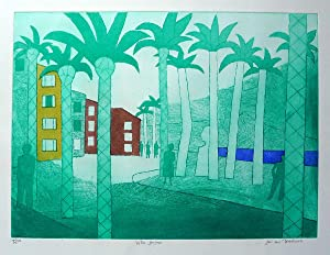 Villa Joyosa Etching in colours