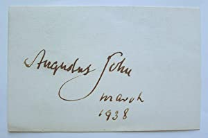 Signed card for March 1938.