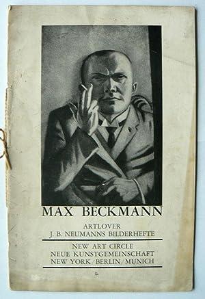 Max Beckmann. Artlover. J.B.Neumanns Bilderhefte.: BECKMANN, MAX.