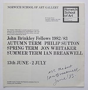 Norwich School of Art Gallery. John Brinkley: IAN BREAKWELL.