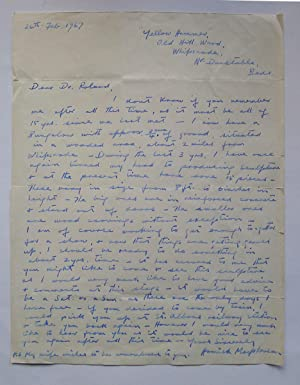A signed autograph letter to Heinz (Henry): MACPHERSON, HAMISH.