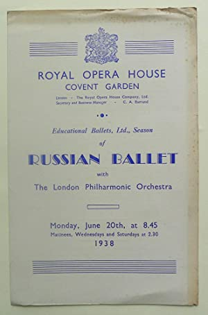Educational Ballets, Ltd., Season of Russian Ballet with the London Philharmonic Orchestra. Royal...