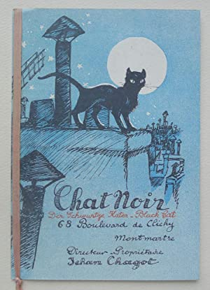 Chat Noir. 68 Boulevard de Clichy, Montmartre. Programme and ticket 1929.