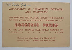 Association of Theatrical Designers and Craftsmen. The President and Council request the pleasure...