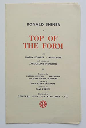 Ronald Shiner in 'Top of The Form' with Harry Fowler, Alfie Bass and introducing Jacqueline Pierr...