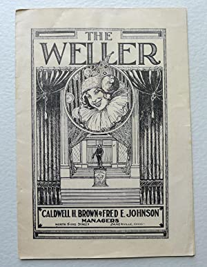 'The Weller' Program for 'White Cargo' by Leon Gordon; Program 'A Trial Honeymoon' by Harold Orlo...