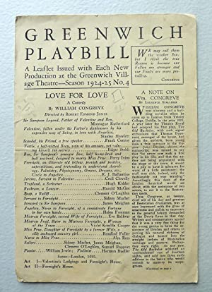 Greenwich Playbill.