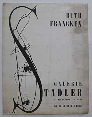 Ruth Francken. Galerie Stadler, du 11 au: FRANCKEN, RUTH.