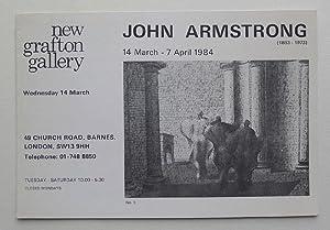 John Armstrong. New Grafton Gallery. 14 March-7: ARMSTRONG, JOHN.